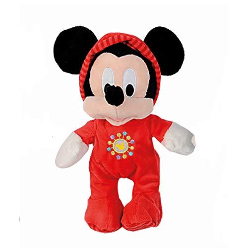 Doudou Malin Disney Mickey la Souris Peluche Pyjama Rouge 25 cm