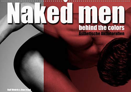 Naked men behind the colors – Ästhetische Aktfotografien (Wandkalender 2021 DIN A2 quer)