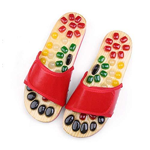WRJY Kopfsteinpflaster Massage Hausschuhe, Verbesserung des Stoffwechsels, rutschfeste Fußpflege Hausschuhe Hausschuhe, Unisex Sommer Hausschuhe zur Förderung der Durchblutung,