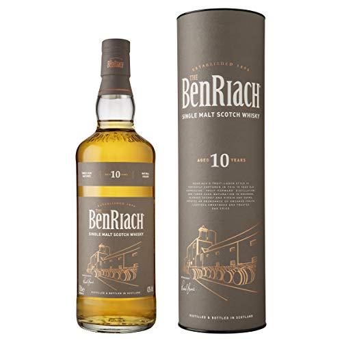 BenRiach 10 Year Old Single Malt Scotch Whiskey, 700 ml