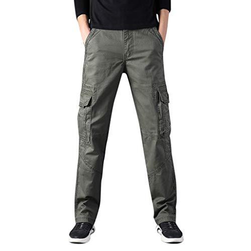 Herren Cool Summer Hot Freizeithosen Multi Pocket Spring Overalls Fashion Multi Pocket Overalls Army Green S M L XL XXL 3XL 4XL 5XL 6XL