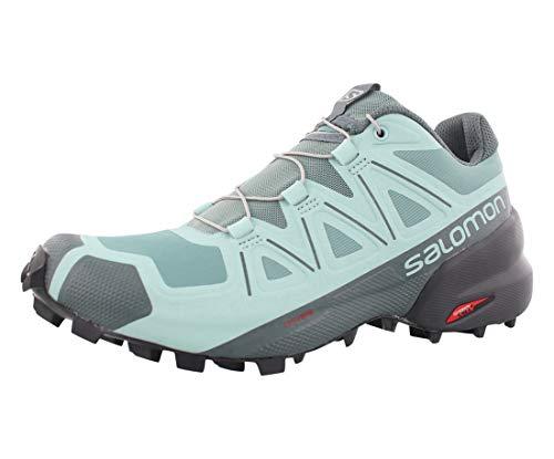 Salomon Women's Speedcross 5 W Trail Running Shoe, Trellis/Stormy Weather/Phantom, 9.5