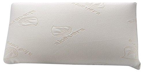 Dormio - Almohada viscoelástica con perfecta adaptabilidad al cuello, Tejido Aloe Vera, Termorregulable, Blanco, 80 cm