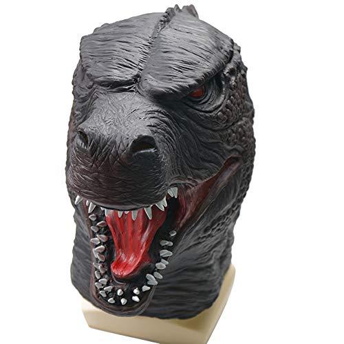 Dreariv Godzilla Maske Halloween Monstar Maske Tier Cosplay Maske Halloween Kostüm Requisiten für Erwachsene