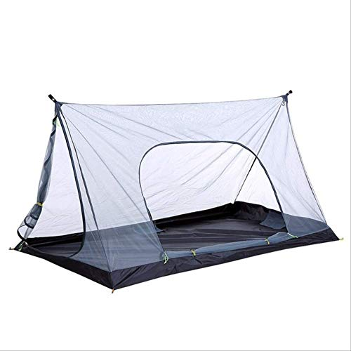 Tienda De Campaña YDHWWSH Ultralight Summer Mesh Tent 1-2 Personas Al Aire Libre Camping Tent Repelente Net Tent Beach Mesh Tents 210 * 120 * 110cm Gris
