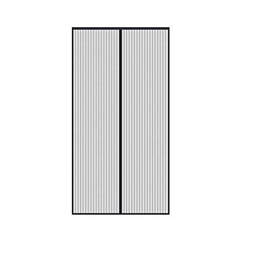Mosquitera Magnetica para Puerta Mosquitera Magnética Automático para Puertas Mosquitera Puerta Magnetica Negro Cortina de Malla Resistente con Imanes para Puertas de Salón o Dormitorio 90 x 210 cm