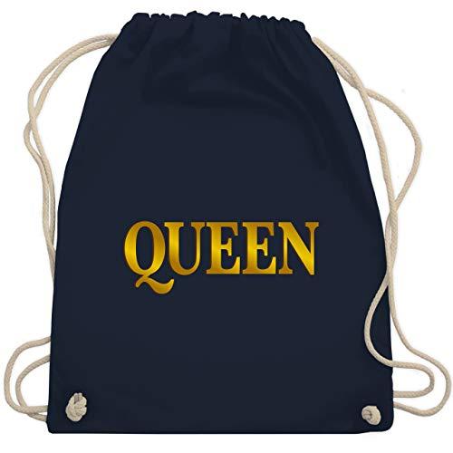 Shirtracer Muttertagsgeschenk - Queen - Unisize - Navy Blau - turnbeutel queen - WM110 - Turnbeutel und Stoffbeutel aus Baumwolle