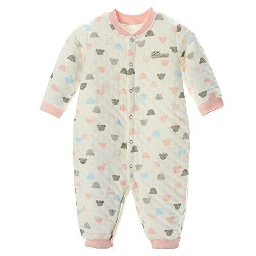 Winter Katoen Baby eendelige pyjama, pasgeboren thermisch ondergoed gewatteerde jumpsuit, geschikt voor 0~3 jaar oude baby
