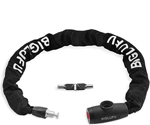 YIHATA Bike Lock Chain 11mm Heavy Duty Bicycle Chain Lock Motorcycle Lock (3.3ft/100cm Chain Lock)