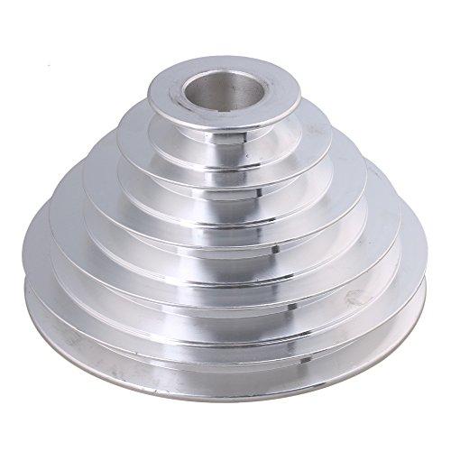 28mm Bohrung 54mm-150mm Außendurchmesser Aluminium 5 Schlitz A Typ V-förmige Pagode Riemenscheibe 5 Schritt Riemenscheibe Gürtel 12,7 mm Gurtbreite
