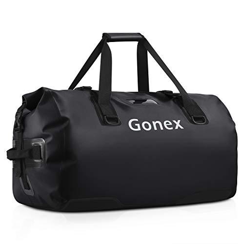 Gonex 80L Waterproof Duffel Bag Water Sport Bag Dry Bag for Boating Kayaking Rafting Fishing Camping Hiking Outdoor Adventure Durable Travel Black