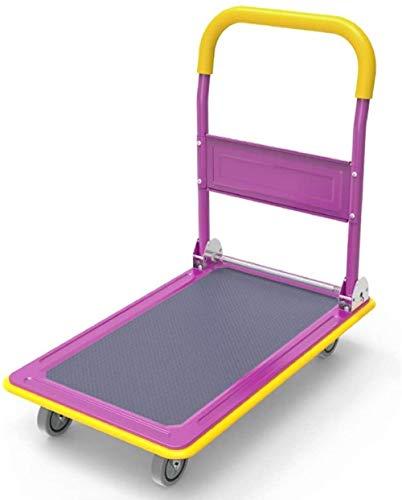 Camión camión de carga de equipaje exterior carrito asa de arrastre-plana de cuatro ruedas del cochecito plegado hogar camión remolque (Color: A, Tamaño: 73X47X86CM), Tamaño: 90X60X90CM, Color: G