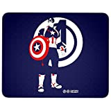 Captain America's Shield Mouse Pad for Typist Office, Steve Rogers Captain America Quality Comfortable Mouse Pad (Mouse Pad - Navy)
