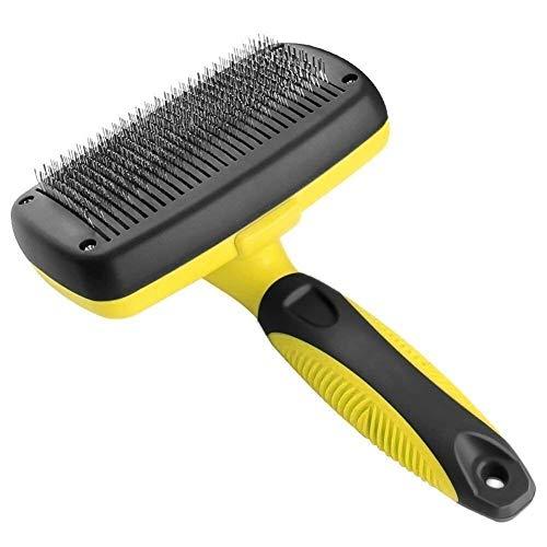 Selbstreinigende Hundebürste Zupfbürste Bequemer Hundekamm Haustierpflege Werkzeuge Katze passt zu verschiedenen Haaren, Heimdekoration