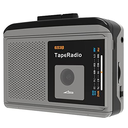 registratore a cassett,Riproduttore cassetta portatile con radio AM/FM,Lettore di Cassette uscita audio da 3,5mm,Walkman per ascoltare i tuoi programmi radio preferiti/lettore di nastri