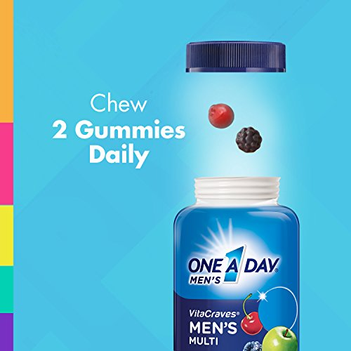 One A Day Men's VitaCraves Multivitamin Gummies, Supplement with Vitamins A, C, E, B6, B12, and Vitamin D, 150 count