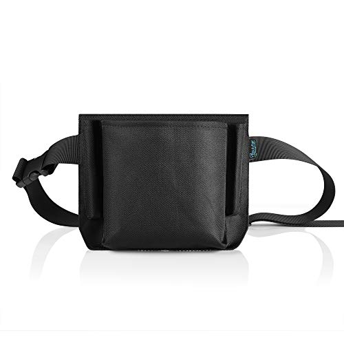 Beautyflier 8.5×6 inches Oxford Cloth Restaurant Waiter Waist Money Pouch Bag Apron Bag with Adjustable Web Belt Pencil Holder and Check Holder (86.5 inches(4 pocket))