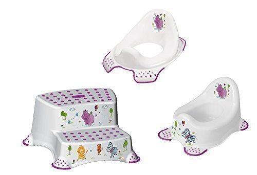 3er Set Z Hippo weiß WC Aufsatz + Kindertopf + Hocker zweistufig Toilettentrainer
