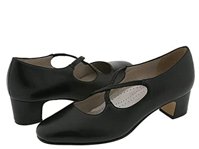 Trotters Jamie (Black Leather) Women