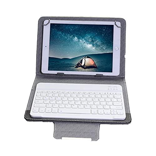 Funda Universal con Soporte para Teclado de Cuero PU de 10 Pulgadas para Tableta Android de 9.7-10.1 Pulgadas, para iPad 2.3.5.6/iPad 2017 / iPad 2018 / iPad Air, para Tableta con Windows,