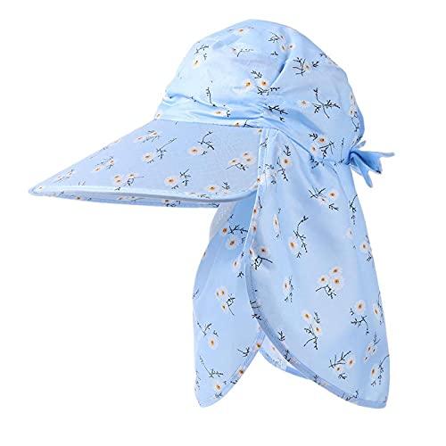MLOPPTE Sombrero,Sombrero de conducción al Aire Libre de Verano para Mujer, Gorra de Playa Anti-UV, Protector Solar Plegable