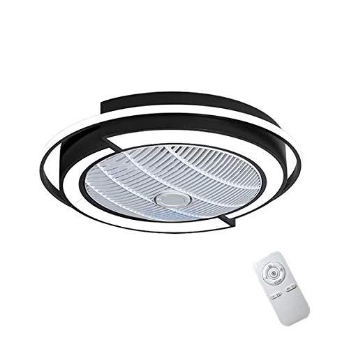 Deckenleuchte Deckenventilator mit LED-Beleuchtung und Fernbedienung Ultra-leise Ultra Dünn DesignFan Kreative unsichtbaren Deckenventilatoren Beleuchtung für Wohnzimmer Schlafzimmer -Yunshun