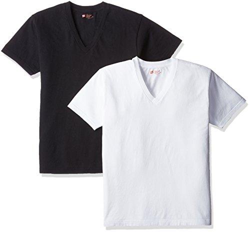 [ヘインズ] Tシャツ ジャパンフィット Vネック 2枚組【アソート】 H5125 メンズ ブラック/ホワイト 日本 S ...