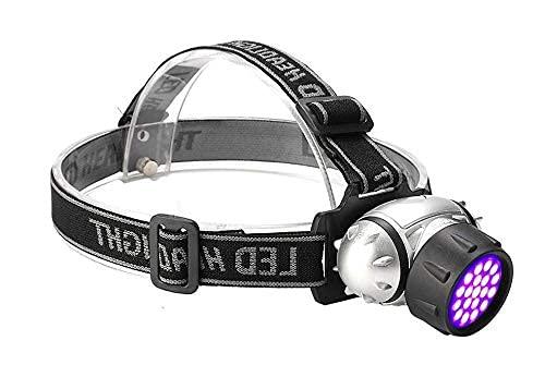 SKYEI DIRIGIÓ Faro UV Faros de la batería Cambio Cambio Cabeza TORCHA Lámpara de luz UV Púrpura LED Faro Linterna de la Cabeza Ultravioleta