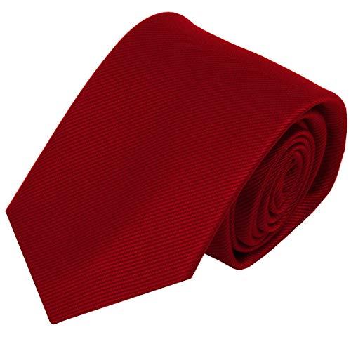 Ashford Herren Krawatte uni Dunkel-Rot