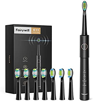 Fairywill E11 Electric Toothbrush with 8 Dupont Bursh Heads