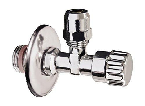 Sanitop-Wingenroth 19509 6 Eckventil Wasserhahnes | 1/2 Zoll | Selbstdichtend | Anschluss Armatur | Ventil | Verchromt
