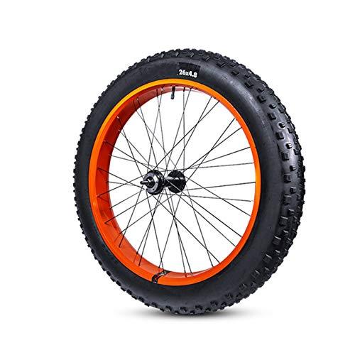 LXRZLS. Extra-Wide 26 * 4.8 GRAFS BICICLETTO Pneumatico Rubber Outer Tyre Tubo Interno Tubo Snow Bike Fat Bike MTB Mountain Bike Parts Accessori for Biciclette (Color : 1 Outer 1 Inner Tire)