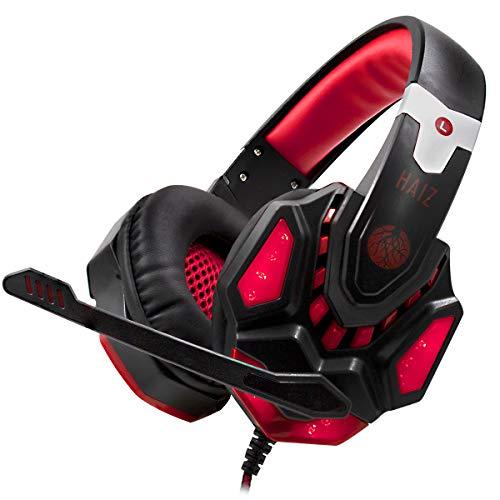 Headset Gamer 7.1 Led Haiz Hz-2021 (Vermelho)