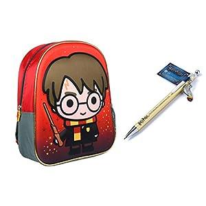 Harry Potter - Juego de mochila 3D de 31 cm y bolígrafo de coleccionista Golden 23