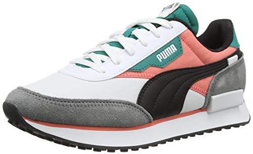 Puma Future Rider Play on, Sneaker Mixte, White-Georgia Peach-Parasailing, 38.5 EU