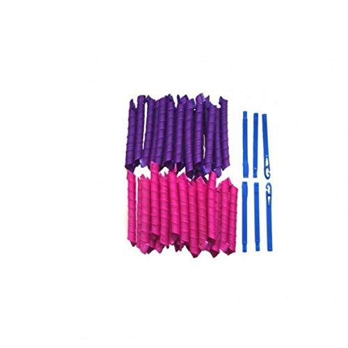 40 Stück - Lockenwickler Curler über Nacht für Damen und Frauen von Zuhause ohne Hitze (Lila/Pink)