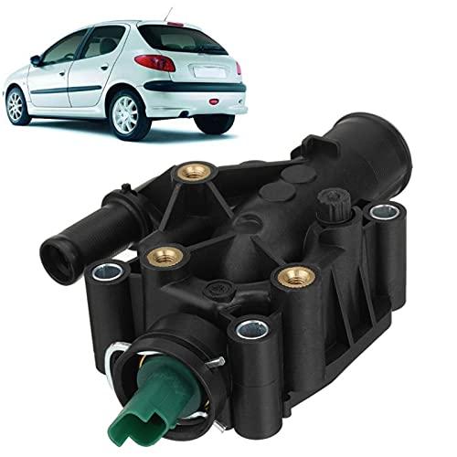 WYYUE Termostato refrigerador, Termostato de refrigerante del Motor, Termostato para P-eugeot Partner 1007206207307308 para Citroen Berlingo C-Elysee C2 C3 C4 Xsara