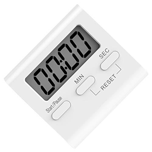 Mingtongli Blanco LCD Digital de Cocina Que Cocina Temporizador de Cuenta atrás del Reloj hasta Fuerte Alarma magnética cronómetro