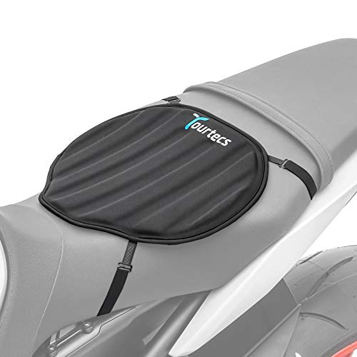Tourtecs - Motorrad Sitzauflage für BMW F 650/ GS/Dakar/ST/ 700/850 GS Gel Pad Sitzbank Neopren M Schwarz