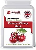 Cherry Max 1500 mg 90 cápsulas Cerezas Montmorency de alta resistencia - Fabricado en el Reino Unido | Estándares GMP de Prowise Healthcare