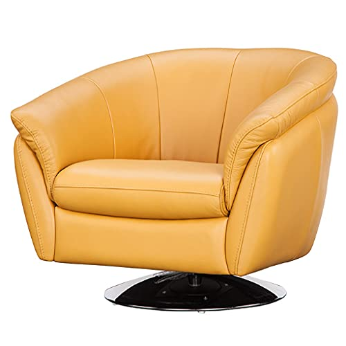 LIU Sedia Divano Chair Sedia Girevole - Base in Metallo Poltrona in Stile Moderno in Stile Classico Camera per Famiglia Mobili per divani, Naturale