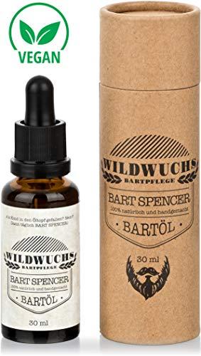 Wildwuchs Bartpflege - Bartöl BART SPENCER Naturkosmetik Beard Oil Bart Oil mit Arganöl und Duft nach Holz und Wald natürlich vegan (1 x 30 ml)
