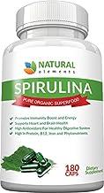 Spirulina Capsules Organic - Highest Quality of Blue Green Algae from California & Hawaii Without Pesticides – 100% Vegeta...