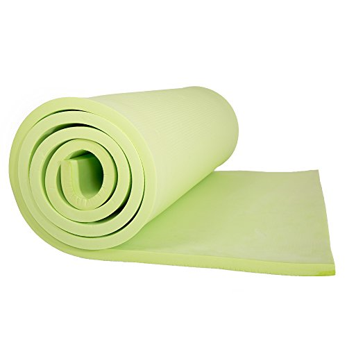 Sleeping Pad, Lightweight Non Slip Foam Mat with Carry Strap by Wakeman Outdoors (Thick Mattress for Camping, Hiking, Yoga and Backpacking) (Green) , 72 inches (L) x 24 inches (w) x 0.50 inch (H)