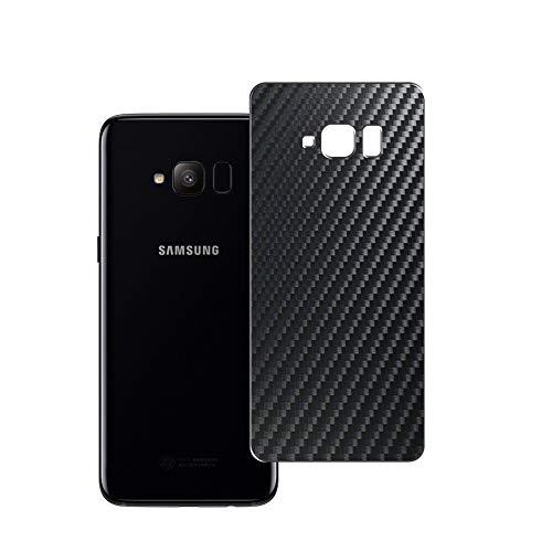 Vaxson 2 Unidades Protector de pantalla Posterior, compatible con Samsung Galaxy S Light Luxury / S8 Lite/S Lite, Película Protectora Espalda Skin Cover - Fibra de Carbono Negro