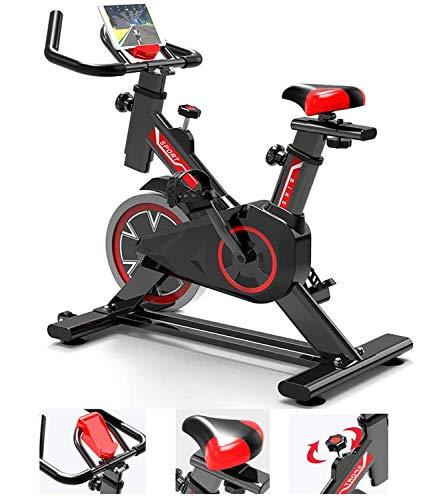 NINGXUE Bicicletta Indoor Professionale, Bici da Spinning Ultra silenziosa, Cyclette Aerobica, con cardiofrequenzimetro e Trainer Addominale Load carico Massimo 150k