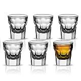 Vikko Schnapsgläser, 28,3 g, 6 Stück, klein, für Spirituosen und Spirituosen, langlebig, Tequila-Bar-Gläser für Alkohol- und Espresso-Shots – 6-teiliges Mini-Shooter-Glas-Set (Maracco)