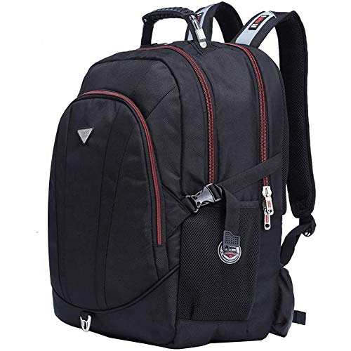 FreeBiz Stoßfest 60L Wasserdicht 18,4 Zoll Notebooktasche Laptop Rücksack Passend für bis zu 18 Zoll Gaming Laptops für Dell, Asus, MSI (Schwarz) mit eine regenfeste Tasche & USB Steckdose (60L)
