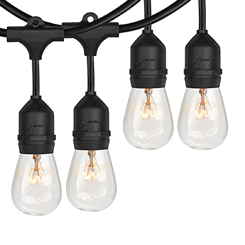 2-Pack 48Ft Dimmable Outdoor Bistro String Lights for Patio,...