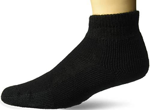 thorlos Herren Tennis Thick Padded Ankle Socks Tennissocken, solide, schwarz, Large